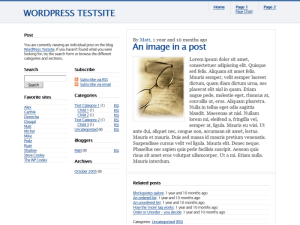 1 Blog Theme Screenshot