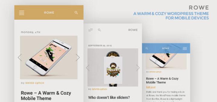 ROWE Tema Wordpress Mobile